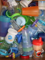 drawer of sippy cups