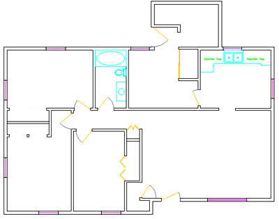 House plans autocad dwg Autocad house drawings