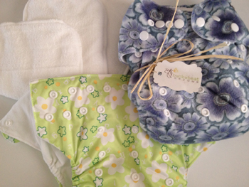 My first cloth diaper purchase, 2 Just Simply Baby Pocket diapers!