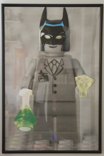 framed engineering print of LEGO man