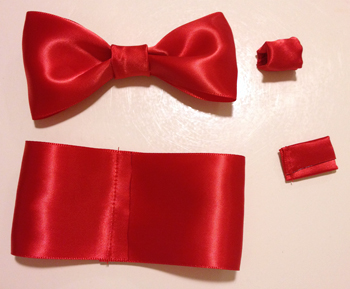 Hello Kitty bow making steps