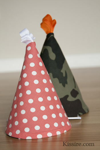 Fabric Party Hats