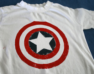 Captain America shirt  done!